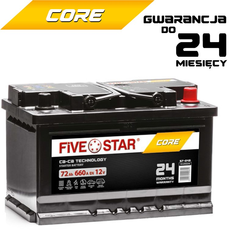 Akumulator FIVE STAR CORE 62Ah / 520A